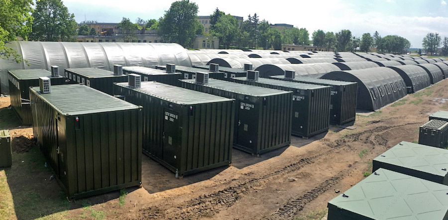 military shipping containers