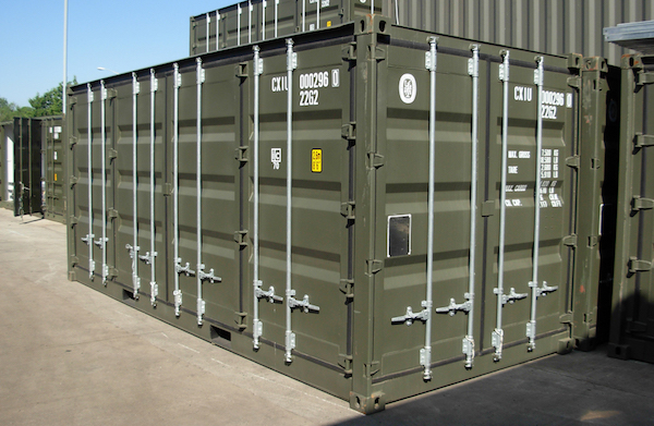 military shipping container, military storage container